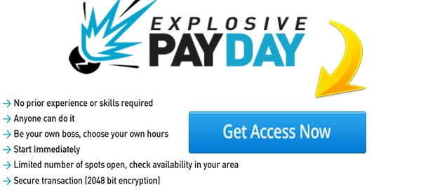 Explosive Payday Footer